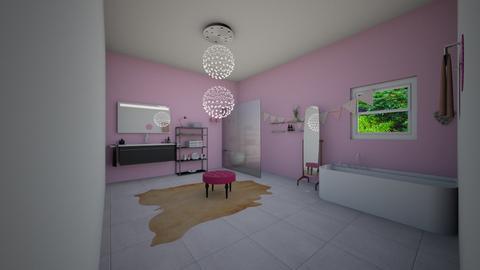 Pink Girly Bathroom - Feminine - Bathroom - by DobbyThePuppy