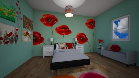 Poppy Bedroom - Bedroom - by chocolatedonut71