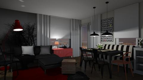 Red Design - Living room  - by Eleonor Debus