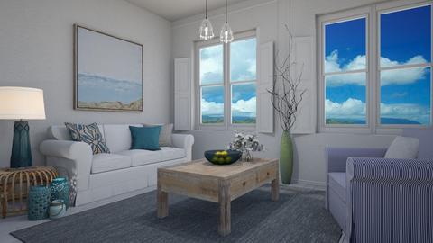 Modern Greek - Living room  - by Tuija