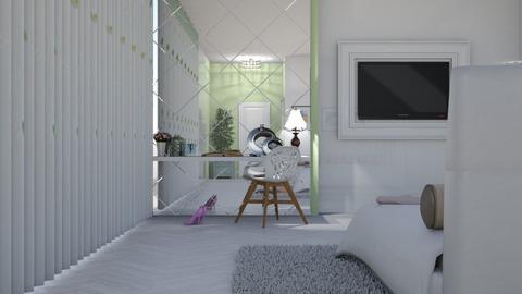 white bedroom - by nat mi