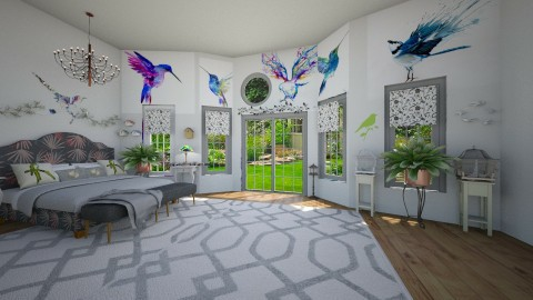 bird room - Eclectic - Bedroom  - by  krc60