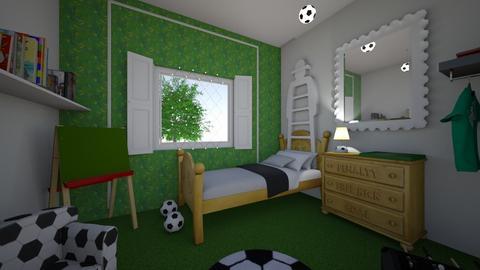 football bedroom - Bedroom  - by Foleyburns10