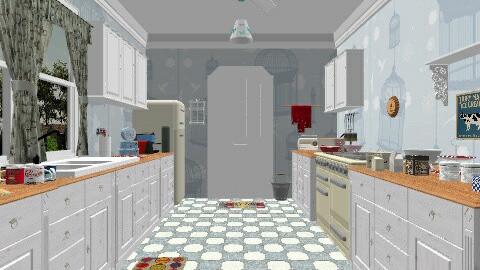 1960s Kitchen - Retro - Kitchen  - by yourjieee