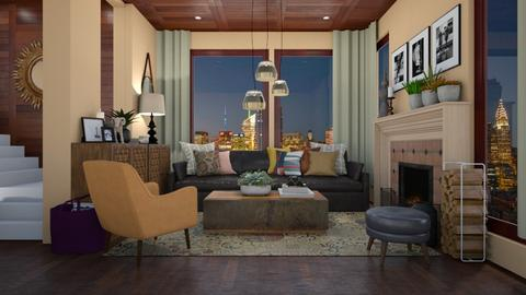 Weston Living - Rustic - Living room  - by paluvica