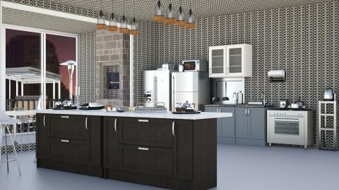 Stainless Steel Kitchen   - Modern - Kitchen  - by InteriorDesigner111