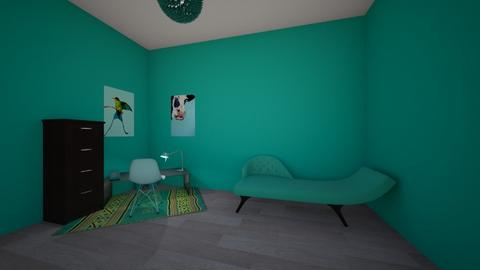 turquoise lady - Retro - Office  - by Itsavannah