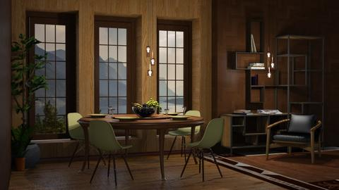 Lake View - Vintage - Dining room  - by Twilight Tiger