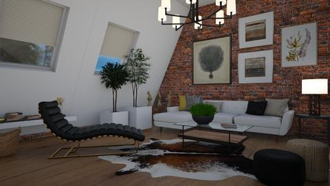 Sloping wall - Living room  - by Tuija