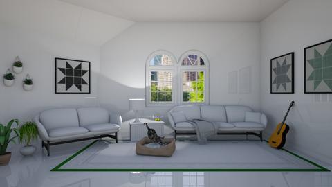 Attic Living - Living room  - by designcat31
