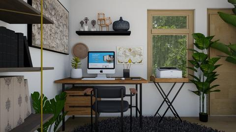 comfy office - Modern - Office  - by moomusr