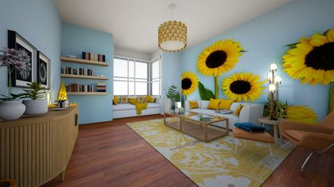 Sunflowers 2 - Living room  - by LixieG