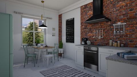 Brick walls - Kitchen  - by Thrud45