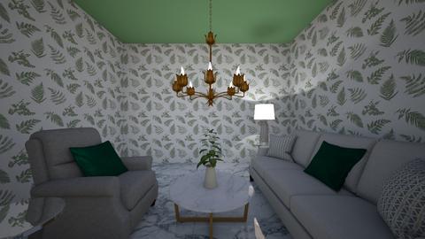Symetrical Living - Living room  - by lilamillerrrrr
