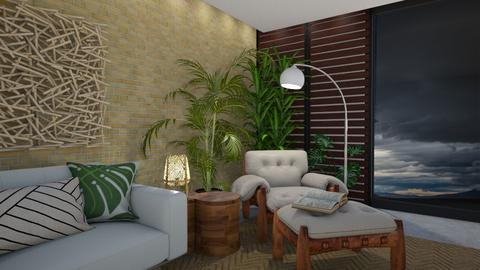 Tropical storm - Living room  - by maribeiro
