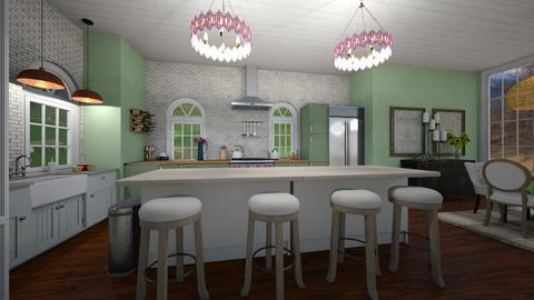 farmhouse kitchen - Kitchen  - by graciecbogardus
