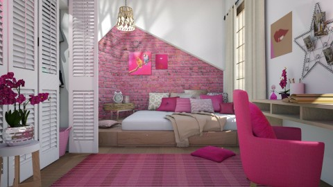 Pinkie - Bedroom - by Liu Kovac