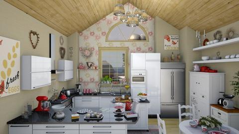 modern farmhouse kitchen - by Teri Dawn