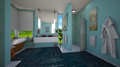 Blue Morning - Eclectic - Bathroom - by Claudia Correia