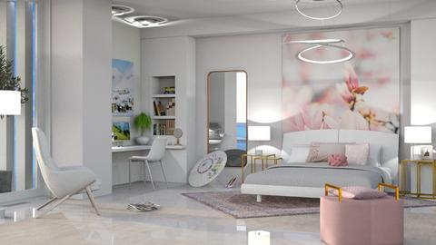 M_White and pink - Modern - Bedroom  - by milyca8