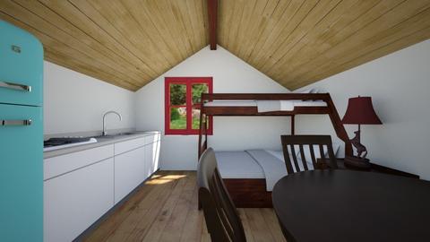 Tiny Cabin - Bedroom  - by SammyJPili