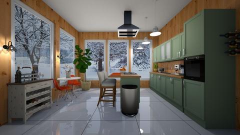 Cabin Kitchen - Kitchen  - by VeroDale