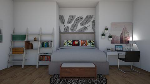 Mural Bedroom - Modern - Bedroom  - by Ariella_