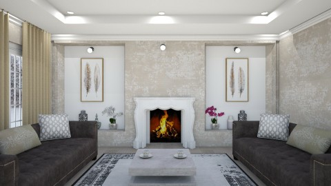Fireplace - Living room - by mayssa ltf
