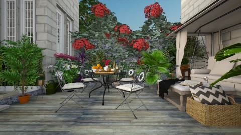 Terrace - Classic - Garden  - by Ali Ruth