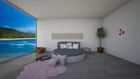 Pink and Purple Bedroom - Bedroom  - by cagla_deniz_
