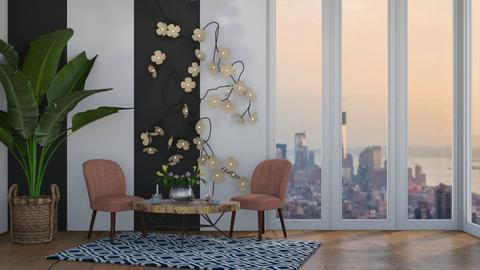 Zebra Room - Feminine - Living room  - by Pheebs09