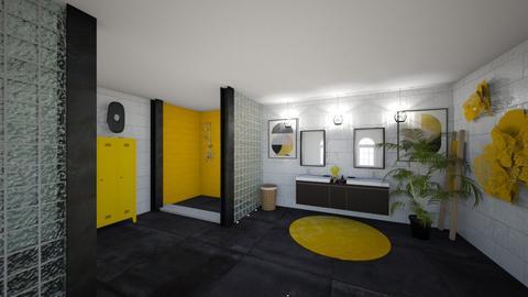 Yellow bathroom - Bathroom - by Gozome