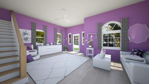 Purple Livingroom - Modern - Living room  - by haileymilby