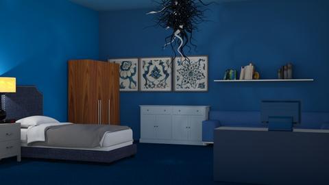 blue bedroom - Bedroom  - by jaxo