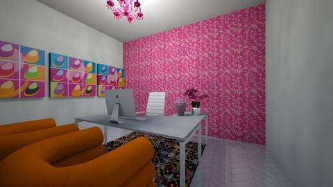 pink and orange - Office  - by nataesquenazi