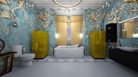Turquoise Metallic  - Bathroom - by Gab71892