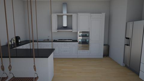 kinda modern kitchen - Modern - Kitchen  - by wolfie11