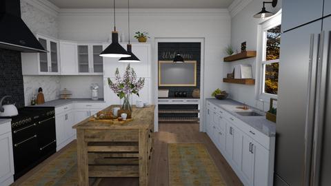 Farmhouse Kitchen - Kitchen  - by kyrabaldwin