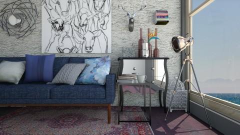 A6 - Retro - Living room - by Karim Mahfouz