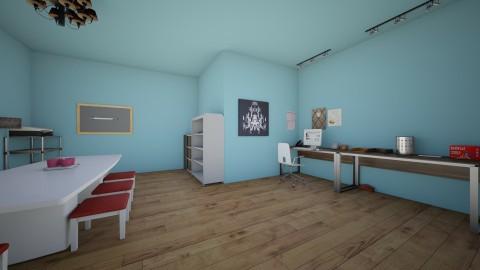 Blue Horizon Home Office - Modern - by Elf_prettyballetgirl16