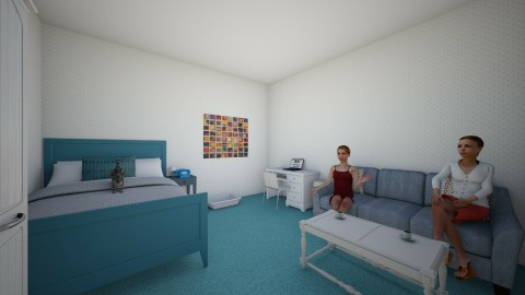 the blue room - Country - Bedroom  - by sitidoro