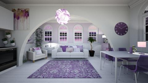 purple - Living room  - by ampluliina