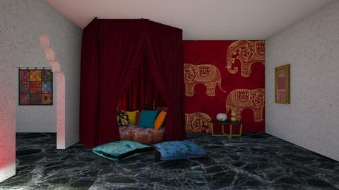 Indian style bedroom - Bedroom  - by iope
