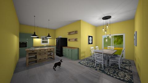 modern country - Kitchen  - by erialc28