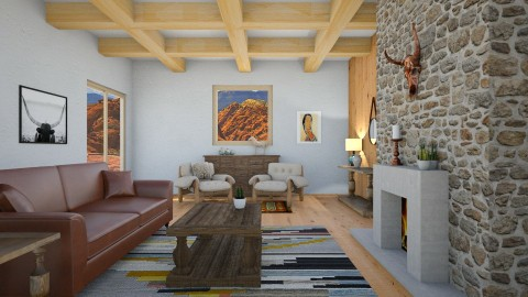 American Western Deco - Country - Living room  - by Vampire_Kitty