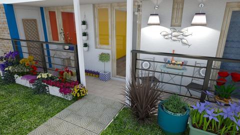 Balcony Greek Holiday - Garden - by Veeveenatyisy