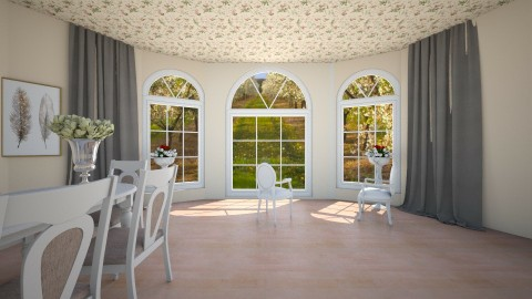 1 - Glamour - Living room  - by zosiawojcik