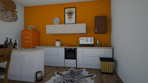 Orange Kitchen bar - Modern - Kitchen - by Taxi girl