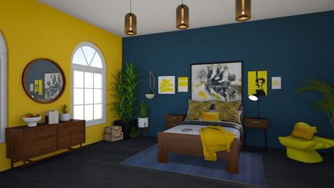 dark blue bedroom - Bedroom  - by suu