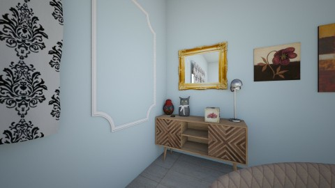 stripe - Retro - Living room  - by katya artemyeva